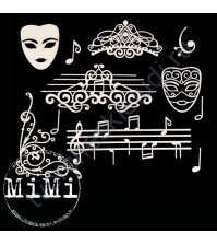 Набор чипборда Ноты, коллекция Музыка, размер 10х15 см