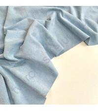 Искусственная замша двусторонняя, плотность 260 г/м2, размер 50х70 см (+/- 2см), цвет детский голубой