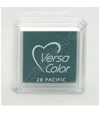 Подушечка чернильная пигментная VersaColor, размер 2.5х2.5 см, цвет океанический