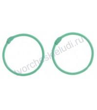 Кольца для альбомов, 2 шт, цвет светло- зелёный, 4,5 см