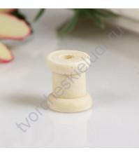 Декоративный элемент из дерева Катушка, 1.5х1.3 см