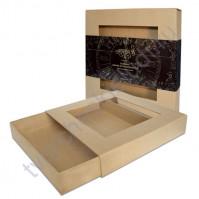 Зоготовка для декорирования в форме Спичечного коробка с окошком, размер 20х20 см