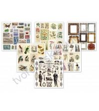 Набор для вырезания Vintage set, 20х20 см, 190 г/м, 6 листов