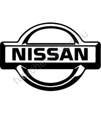 Декор из термотрансферной пленки Nissan, 7х4.8 см, цвет в ассортименте