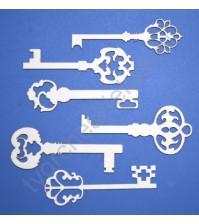 Чипборд Набор Ключи Фигурные, 6 элементов