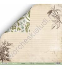 Бумага для скрапбукинга двусторонняя 30.5х30.5 см, 200 гр/м, коллекция Cozy Forest, лист Страница