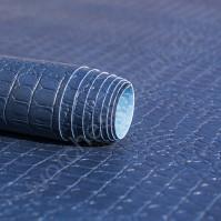 Кожзам переплетный с тиснением Крокодил, плотность 255 гр/м2, 70х50 см, цвет джинсовый темно-синий