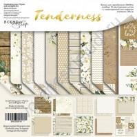 Набор двусторонней бумаги Tenderness, 20х20 см, 190 гр/м, 11 листов
