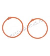 Кольца для альбомов, 2 шт, цвет оранжевый, 4,5 см