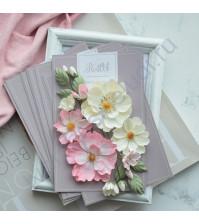 Цветы ручной работы из ткани Шиповник, розовый