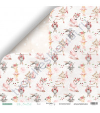 Бумага для скрапбукинга двусторонняя 30.5х30.5 см, 190 гр/м, коллекция Oh, Ballet, лист Балет