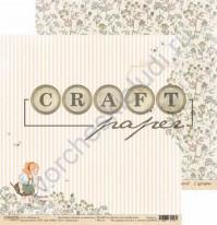 Бумага для скрапбукинга двусторонняя коллекция Цветик-семицветик, 30.5х30.5 см, 190 гр/м, лист Одуванчик