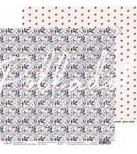 Бумага для скрапбукинга двусторонняя 30.5х30.5 см, 190 гр/м, коллекция Я тебя целую, лист Букет
