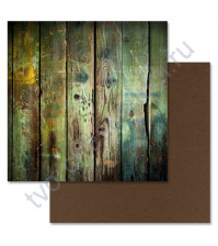 Бумага для скрапбукинга двусторонняя 30.5х30.5 см, 190 гр/м, коллекция Дембельский альбом, лист Казарма