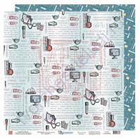 Бумага для скрапбукинга двусторонняя, 30.5х30.5 см, плотность 190 гр/м2, коллекция Все будет хорошо!, лист Карантин