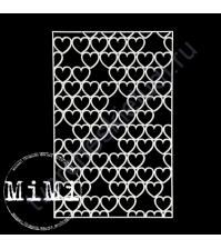 Чипборд Набор Сердца, коллекция Фоны, 10х15 см