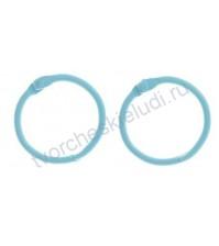 Кольца для альбомов, 2 шт, цвет светло- голубой, 3 см