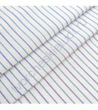 Ткань для рукоделия Мелкая полоска, 100% хлопок, плотность 150 гр/м2, размер отреза 50х40 см