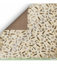 Бумага для скрапбукинга двусторонняя 30.5х30.5 см, 200 гр/м, коллекция Cozy Forest, лист Перья