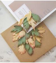 Листья ручной работы из ткани Очарование, листья
