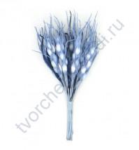 Декоративный букетик Колоски цвет голубой, 12 веточек, высота 12 см