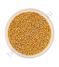 Декоративный топинг (микробисер), размер 0.6-0.8 мм, цвет золотой