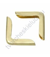 Уголок металлический для альбомов и блокнотов 15х15х3 мм, цвет золото, Цена указана за 1 штуку