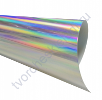 Термотрансферная пленка глянцевый металлик, цвет спектр, металлик, 25х25см (+/- 2 см)