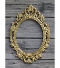 Металлическая рамка Барокко, цвет золото