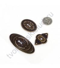 Декоративные металлические элементы Замочная скважина, цвет бронза