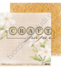 Бумага для скрапбукинга двусторонняя коллекция Цветик-семицветик, 30.5х30.5 см, 190 гр/м, лист Рукодельница