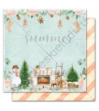 Бумага для скрапбукинга двусторонняя коллекция Winter traditions, 30.5х30.5 см, 190 гр/м, лист Home sweet home