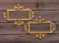Набор металлических рамок для записей-2, 2 шт, цвет золото