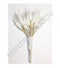 Декоративный букетик Колоски, цвет белый, 12 веточек, высота 12 см