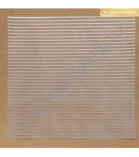Прозрачный ацетатный лист с фольгированием Полоска, 30.5х30.5 см