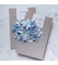 Цветы ручной работы из ткани Гортензии дуболистные, голубой