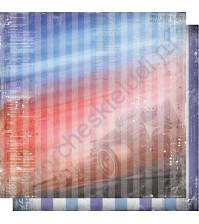 Бумага для скрапбукинга двусторонняя, коллекция Автопарк, лист 006