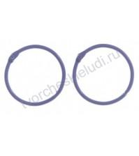 Кольца для альбомов, 2 шт, цвет фиолетовый, 4,5 см