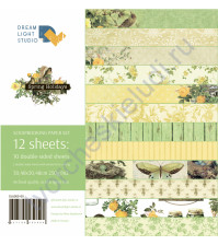 Набор бумаги Spring holidays, 30.5х30.5 см, плотность 250 г/м2, 12 двусторонних листов (цена указана за 1/2 часть набора, 6 листов)