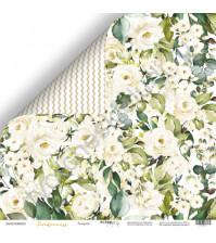 Бумага для скрапбукинга двусторонняя 30.5х30.5 см, 190 гр/м, коллекция Tenderness, лист Розарий