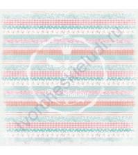Бумага для скрапбукинга двусторонняя коллекция Малыши, 30.5х30.5 см, 190 гр/м, 740202