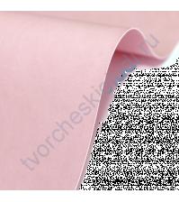 Кожзам переплетный на полиуретановой основе плотность 230 гр/м2, 50х35 см, цвет F414-светло-розовый