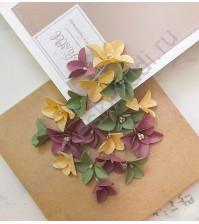Цветы ручной работы из ткани Очарование, гортензии