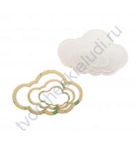 Набор шейкеров Облако пухленькое, 3 элемента, толщ. 2 мм, цвет молочный