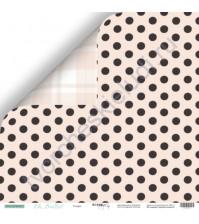 Бумага для скрапбукинга двусторонняя 30.5х30.5 см, 190 гр/м, коллекция Oh, Ballet, лист Точки