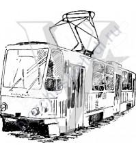 ФП печать (штамп) Трамвай, 6х6.2 см