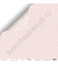 Бумага для скрапбукинга двусторонняя 30.5х30.5 см, 190 гр/м, коллекция So Loved, лист Шифон