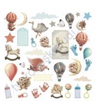 Набор высечек из коллекции Волшебные сны, плотность 330 г/м2